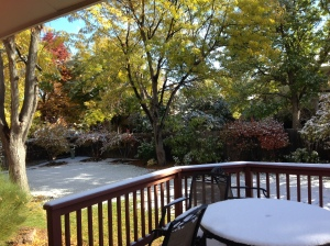 Snow in October - but then the sun comes out